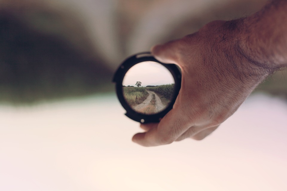 lens viewing a landscape